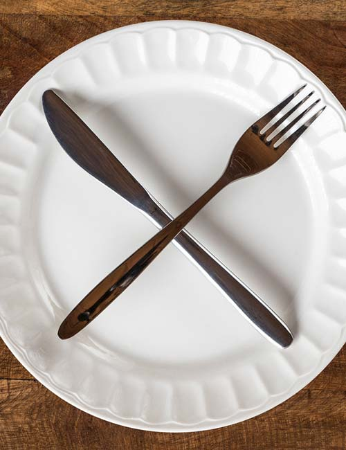 тарелка, вилка, нож