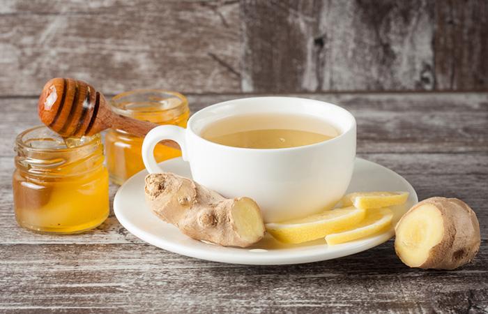 чай, имбирь и мед