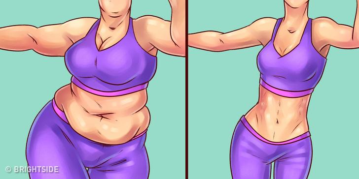 худая и полная женщины
