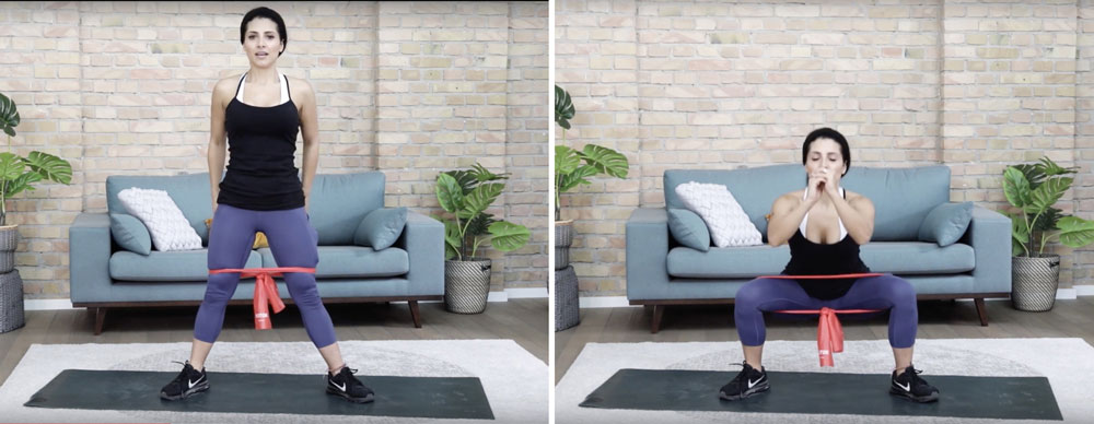 Приседания с резиной
