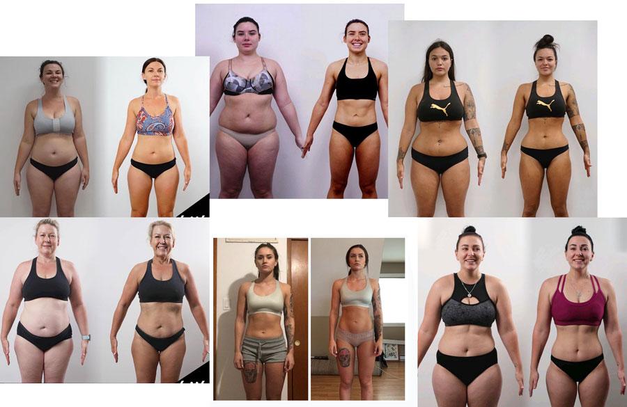 До и после тренировок с правильной диетой