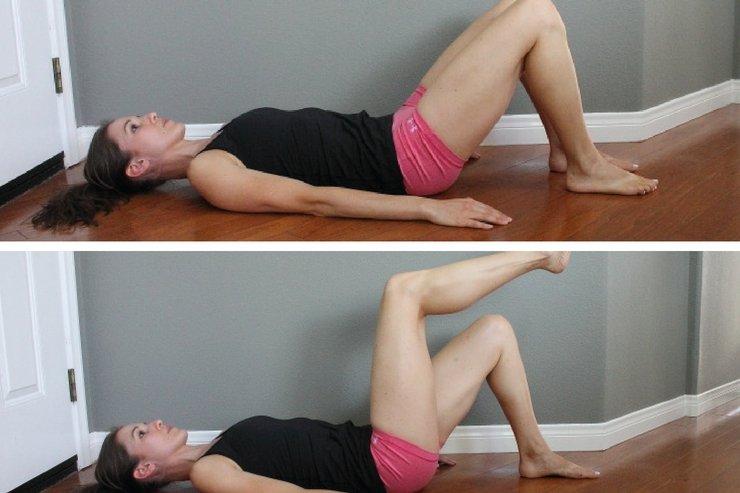 упражнение для избавления от диастаза
