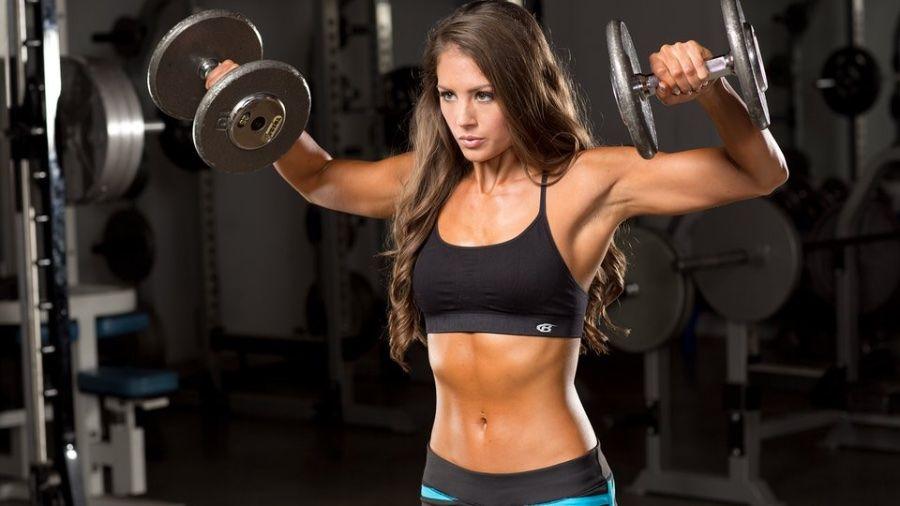 Тренировка девушки