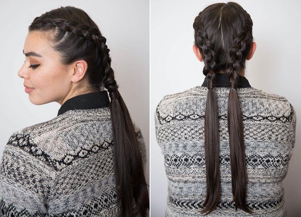 Коса в голландском стиле