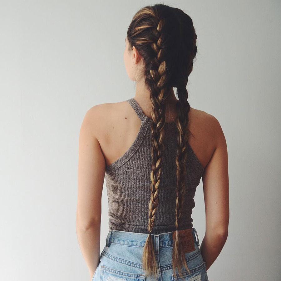 Красивые длинные косички